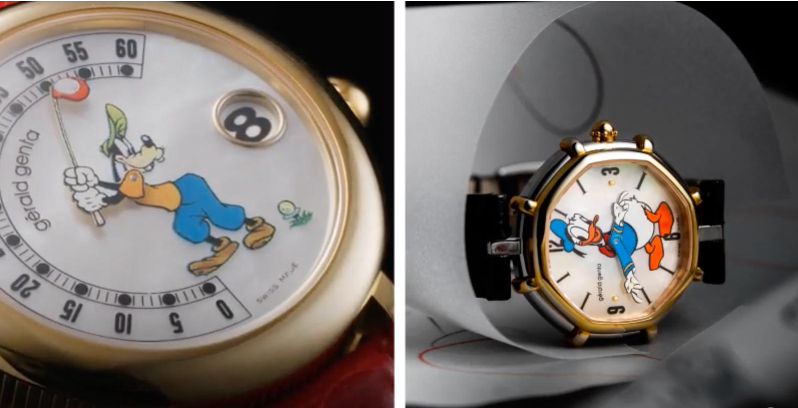 Gerald Genta Disney character watches of the 80's