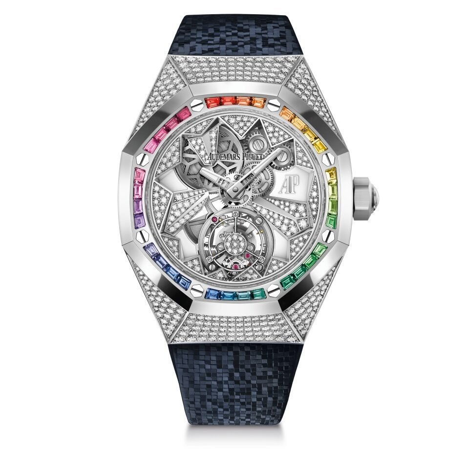 The Flying Tourbillon studded in colours of the rainbow