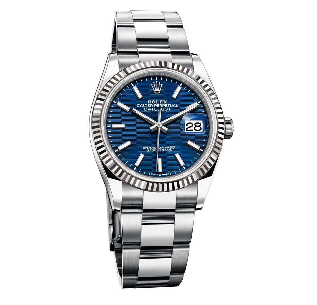 A bright blue dial and a Jubilee bracelet